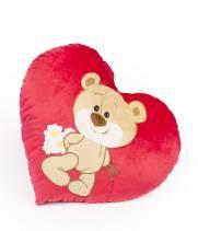 Подушка  в форме сердца Мишка