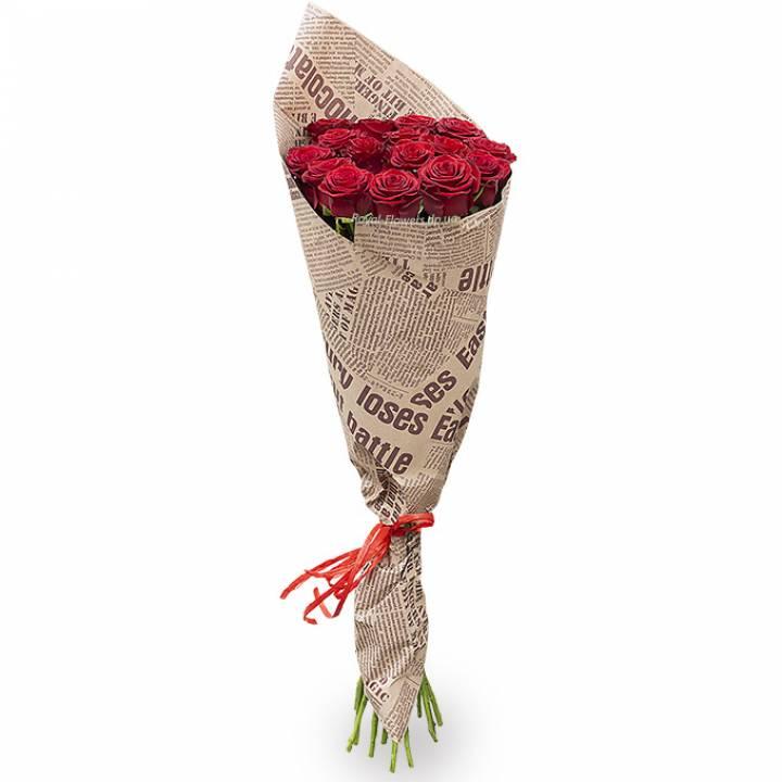 Букет 15 Красных роз Престиж