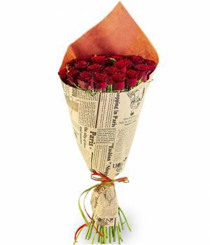 25 Красных роз Престиж