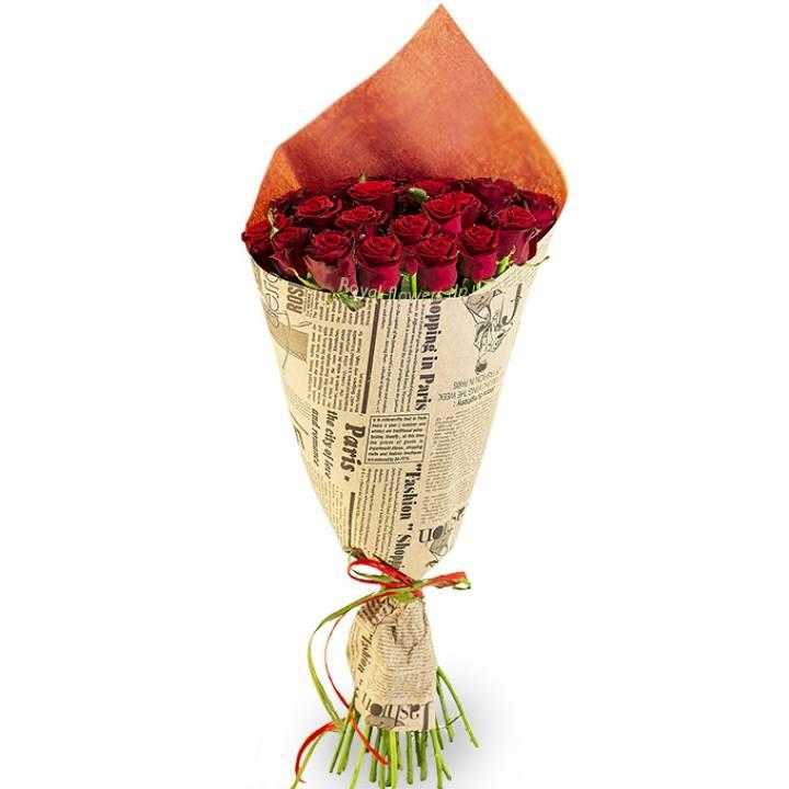 Букет из 25 красных роз Престиж