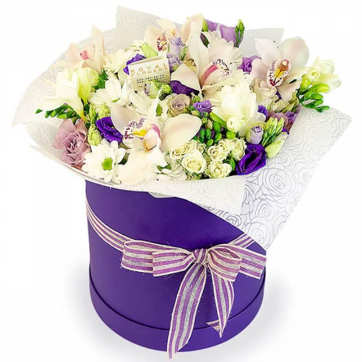 Авторская коробка цветов