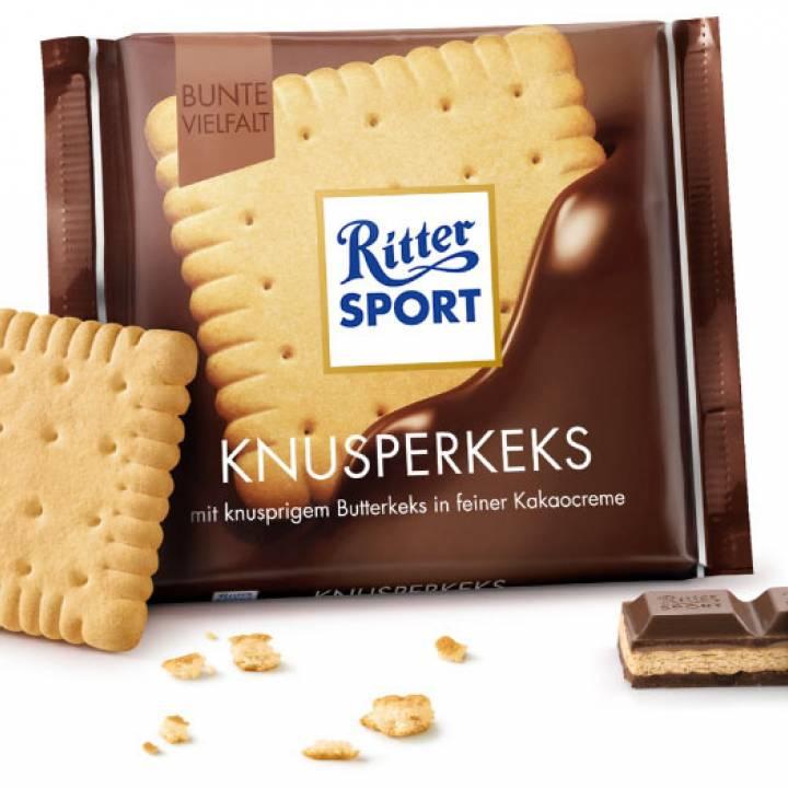 Шоколад молочный Ritter Sport с хрустящей начинкой  100 г
