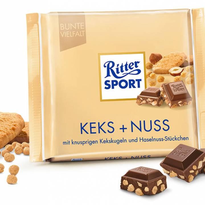 Ritter Sport бисквит и орехи