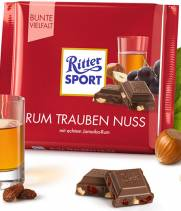 Шоколад Ritter Sport Ром, изюм, орех