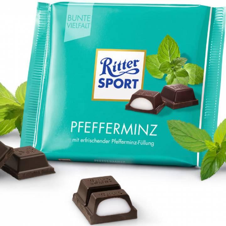 Шоколад молочный Ritter Sport с Мятой 100г