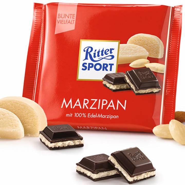 Шоколад молочный Ritter Sport с Марципаном