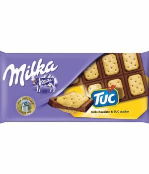 Шоколад Milka с соленым крекером Tuc