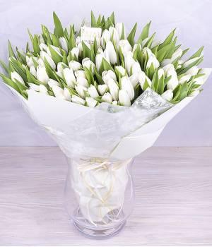 Букет голландских тюльпанов 101 Звезда
