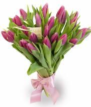 25 розовых тюльпанов - букет Нежные слова