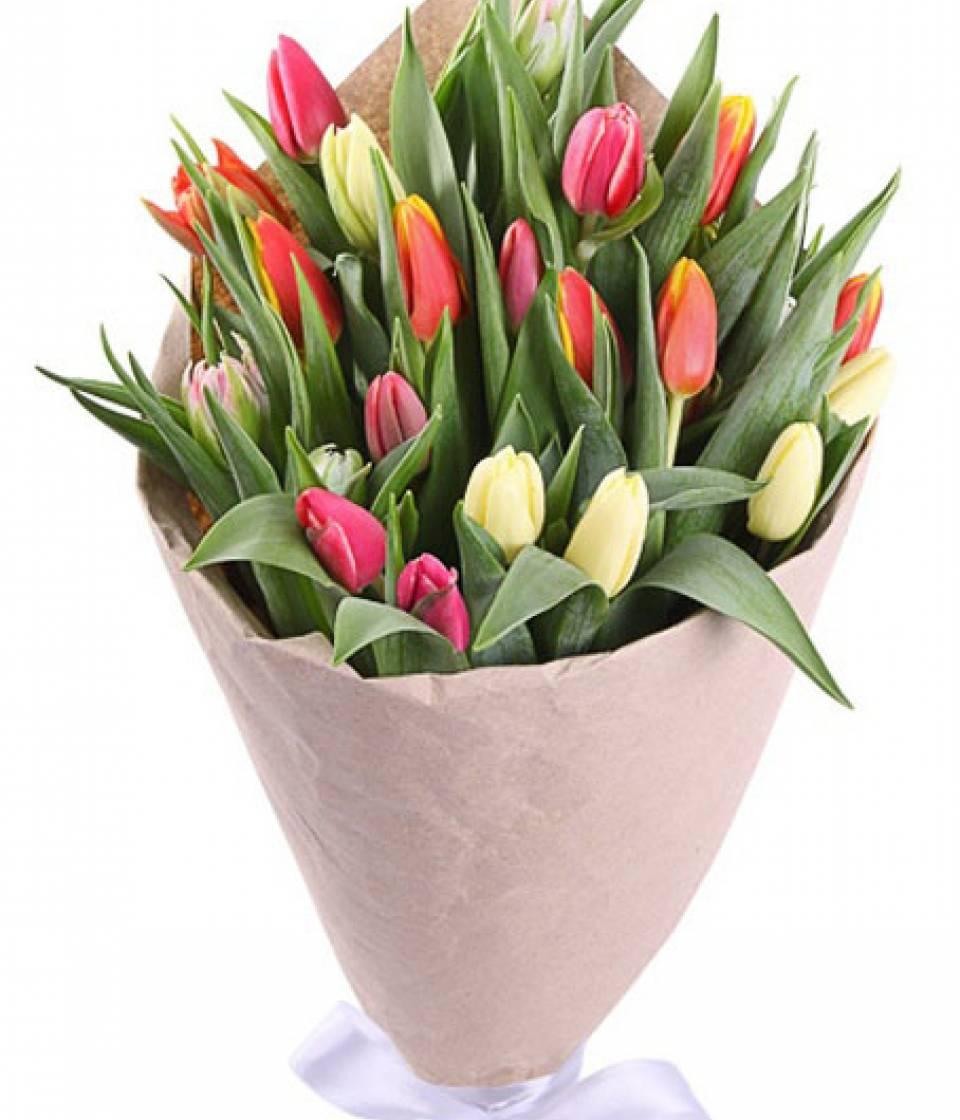 Розы, свадебный букет с голландских тюльпанов купить