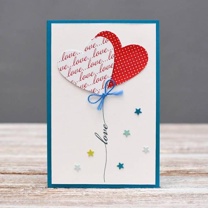 Ручной работы открытка love